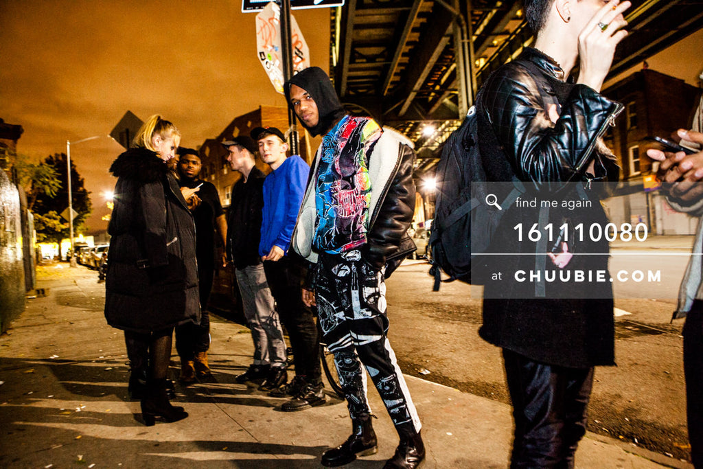 161110080 | Bushwick fashion shoot on the sidewalk at night.  — at BROMO 1 Year Anniversary with Butched (Joe... | Team Chuubie