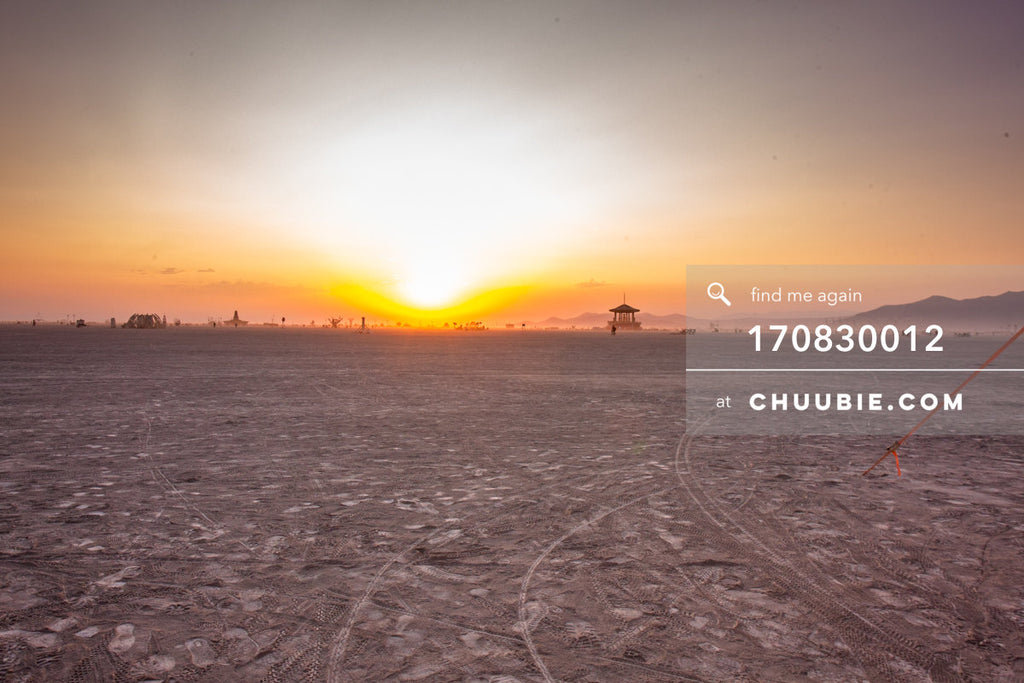 170830012 |  Burning Man 2017 playa sunrise - quiet Wednesday morning. Scenic shot with no people. —Burning M... | Team Chuubie