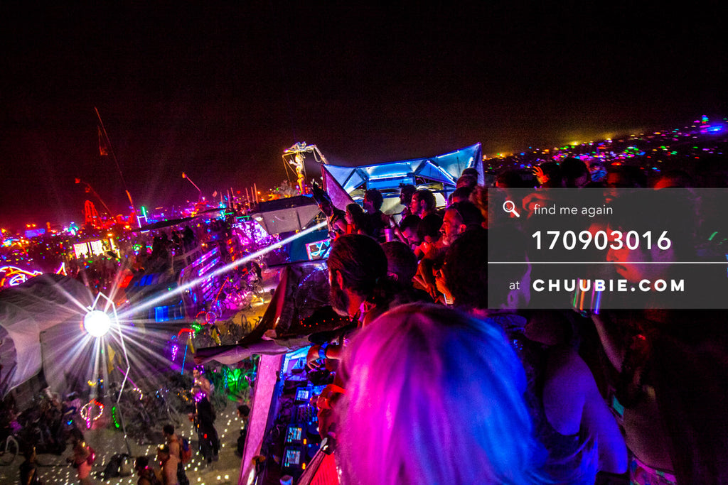 170903016 |  The playa is illuminated with bright, colorful LED lights Saturday night (Man Burn night). As se... | Team Chuubie