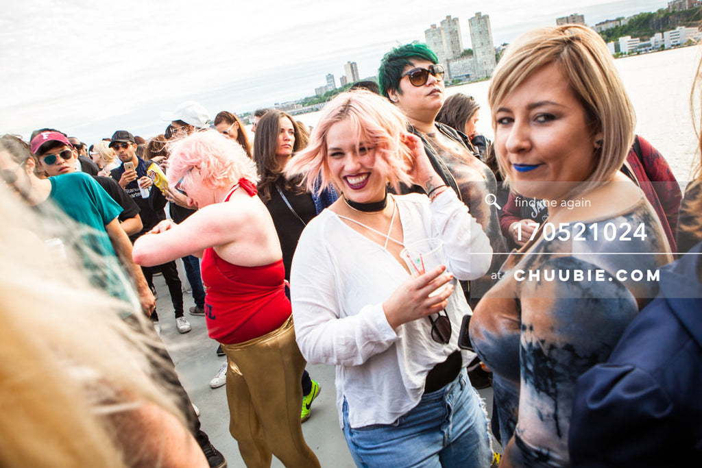 170521024 |  Ladies radiantly smiling aboard —ebb+flow boat party May 21, 2017 | Team Chuubie