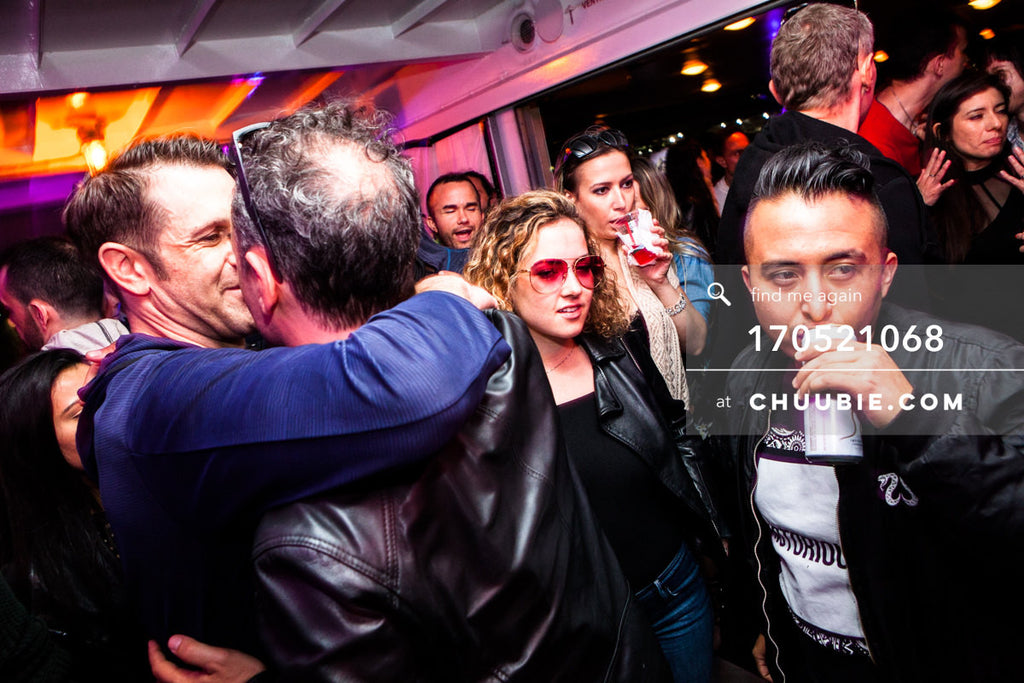 170521068 |  Candid moment in the crowd – with Yancy, Ian, Jay, Jenn, and more. — ebb+flow boat party May 21,... | Team Chuubie