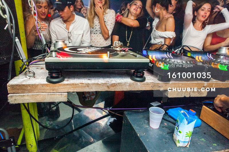161001035 |  Shot of the DJ decks and crowd dancing in background. Sublimate presents: Hunee September 30, 11... | Team Chuubie