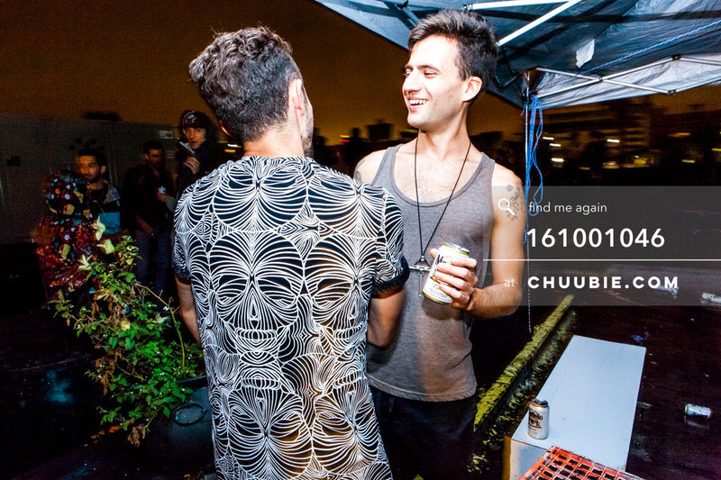 161001046 |  Cheery chats with Tom & a graphic skull tee up on the rooftop!  Sublimate presents: Hunee Se... | Team Chuubie