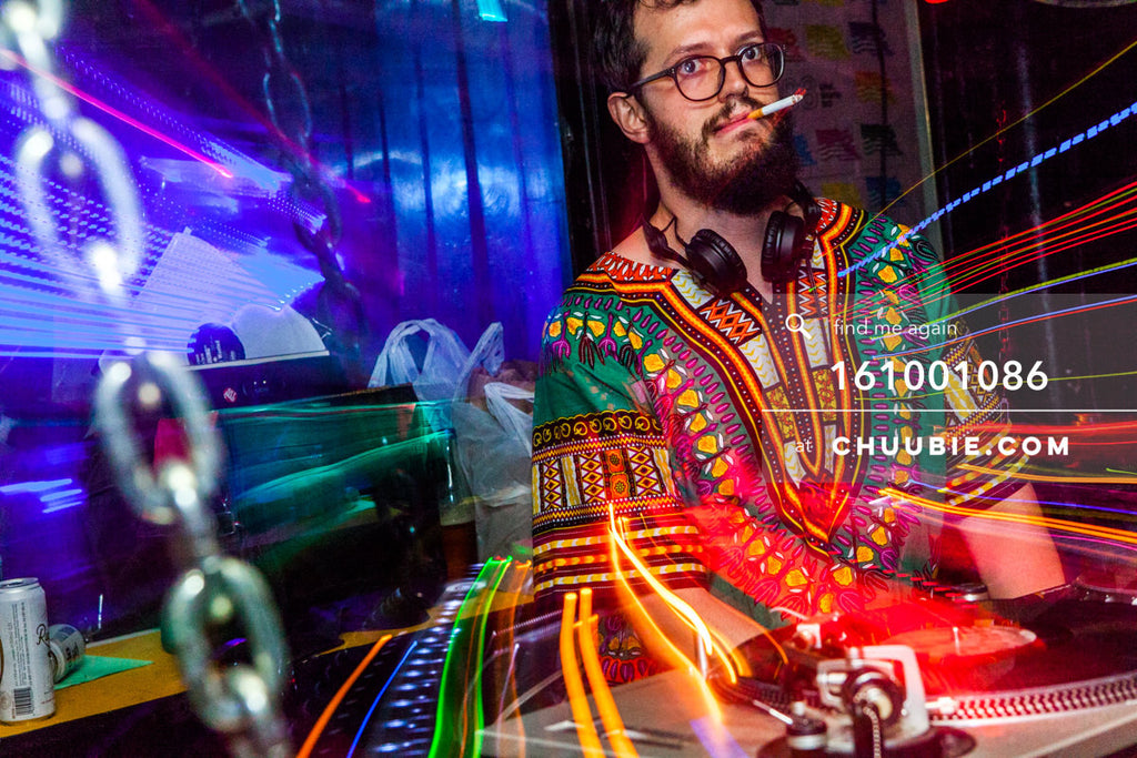 161001086 |  Zoom-in light trails as Sagotsky DJs.  Sublimate presents: Hunee September 30, 11pm - October 1 ... | Team Chuubie