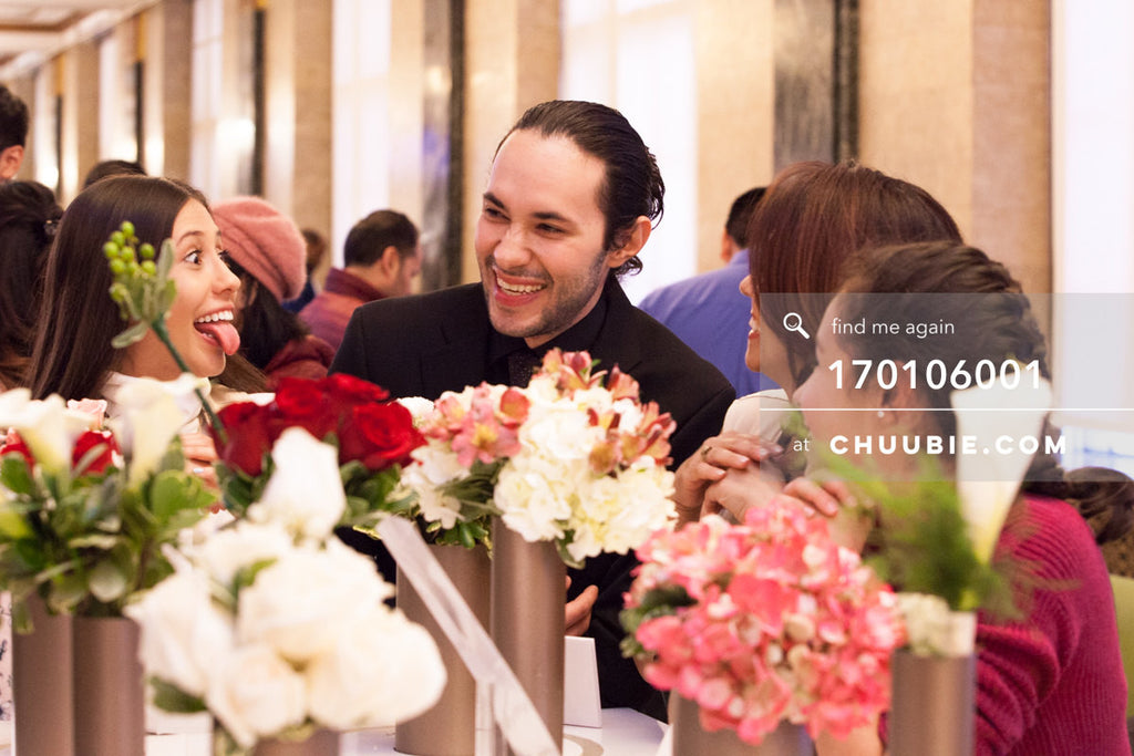 170106001 | Andres (Groom) with family and flowers —Jenn & Andres' NYC City Hall Wedding. City Clerk's Of... | Team Chuubie