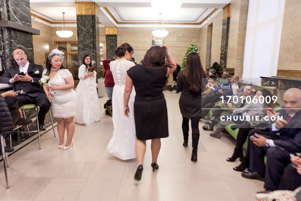 170106009 | A whimsical, captured moment of Brides watching other Brides —Jenn & Andres' NYC City Hall We... | Team Chuubie