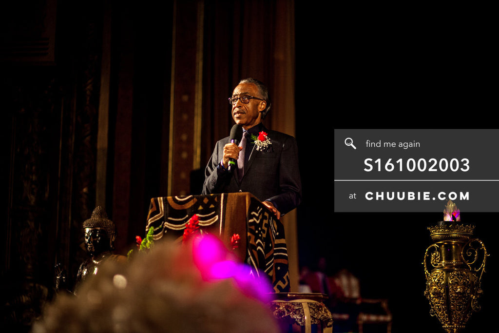 S161002003 |   Reverend Al Sharpton speaking at United Palace, facing audience; photographed in New York on Oc... | Team Chuubie