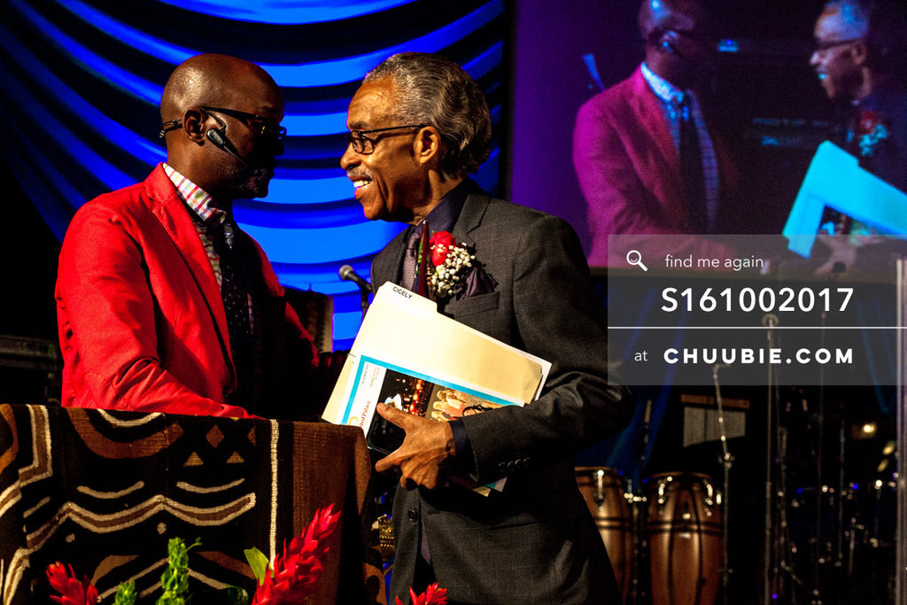 S161002017 | Reverend Al Sharpton smiling shaking hands with Bishop Xavier Eikerenkoetter of United Palace; ph... | Team Chuubie