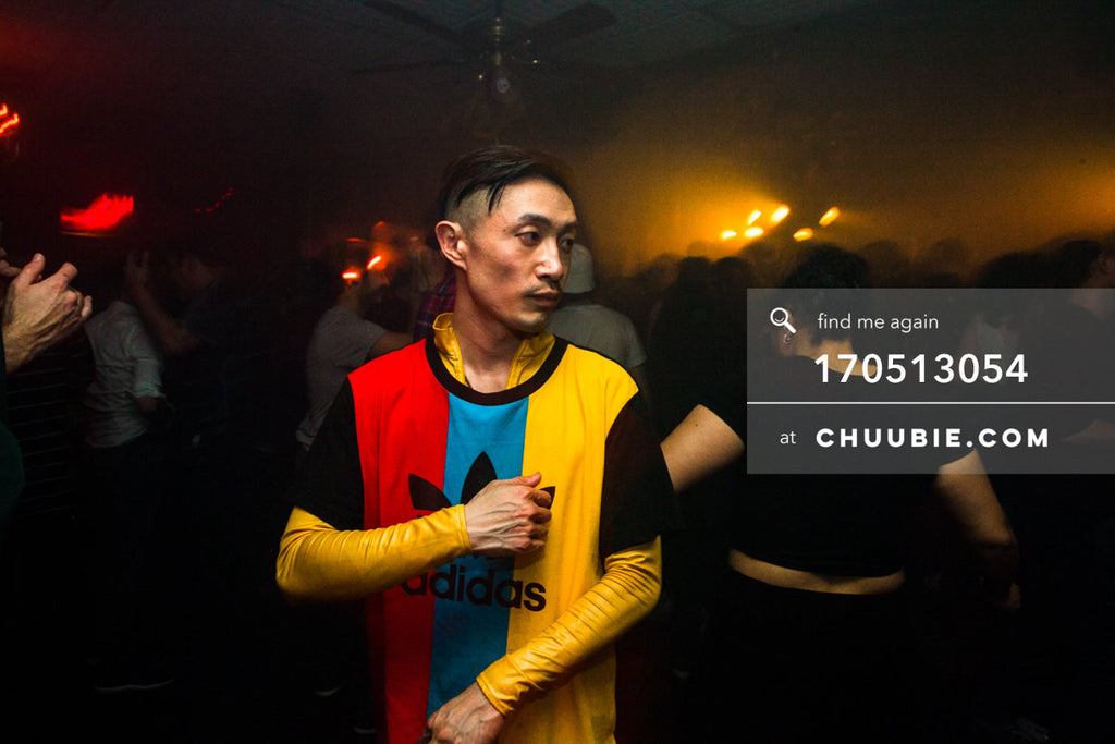 170512054 |  Chuubie (Steven Chu) raves in Adidas originals wear.  —Sublimate: Hessle Audio 10: Ben UFO, Pang... | Team Chuubie