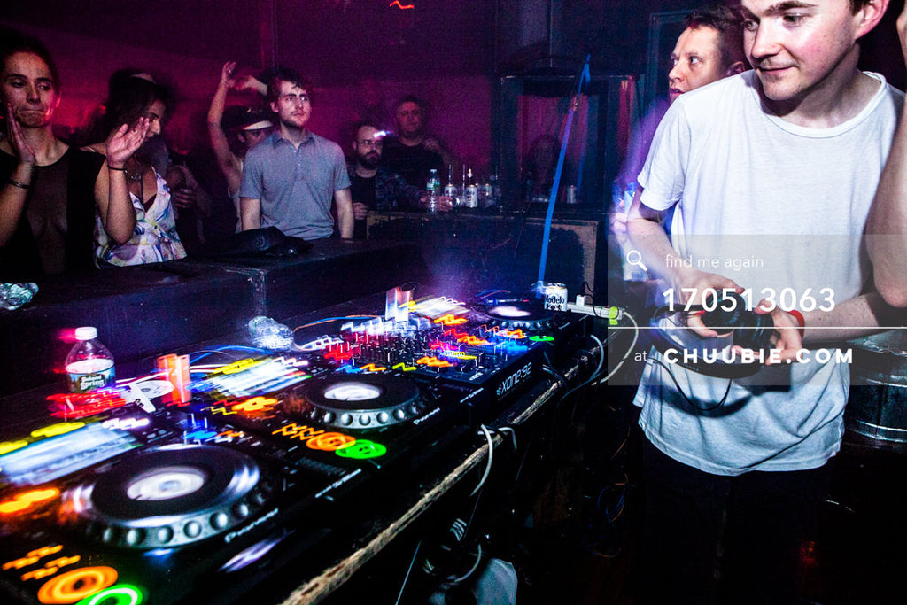 170512063 |  Ben UFO and Pangaea switch off behind the decks. Sugar Hill Disco, Brooklyn.  —Sublimate: Hessle... | Team Chuubie