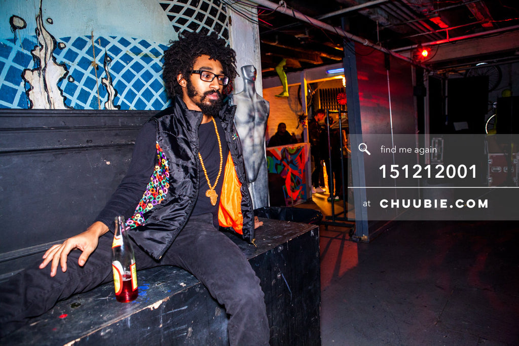151212001 | Turtle Bugg (Tajh Moris), at the night's opening. — Sublimate & Ruse Labs 2 Year Anniversary:... | Team Chuubie