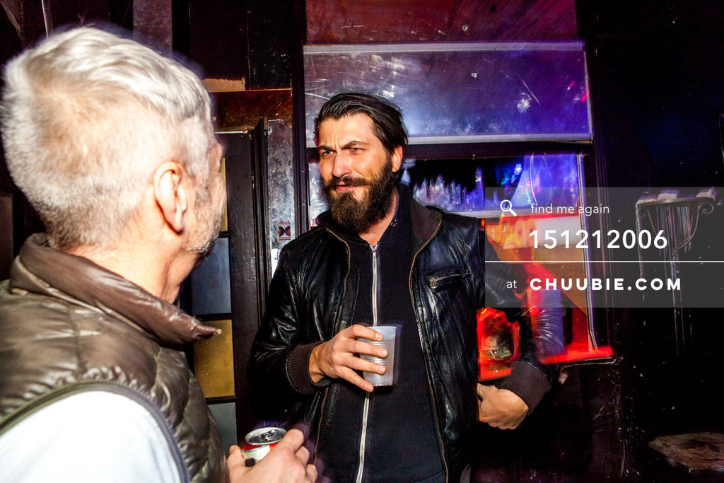 151212006 | Peter Hale & Davor Bauk exchange conversation over drinks. — Sublimate & Ruse Labs 2 Year... | Team Chuubie