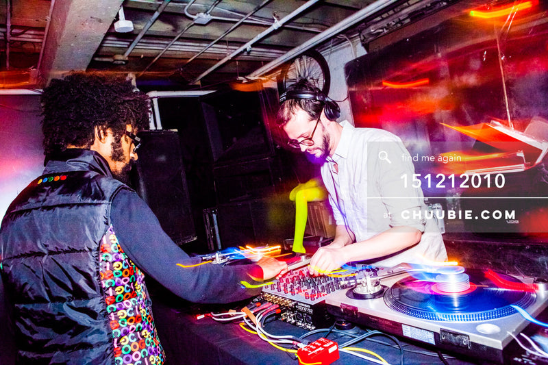 151212010 | Turtle Bugg (Tajh Morris) & Sagotsky at the DJ decks. — Sublimate & Ruse Labs 2 Year Anni... | Team Chuubie