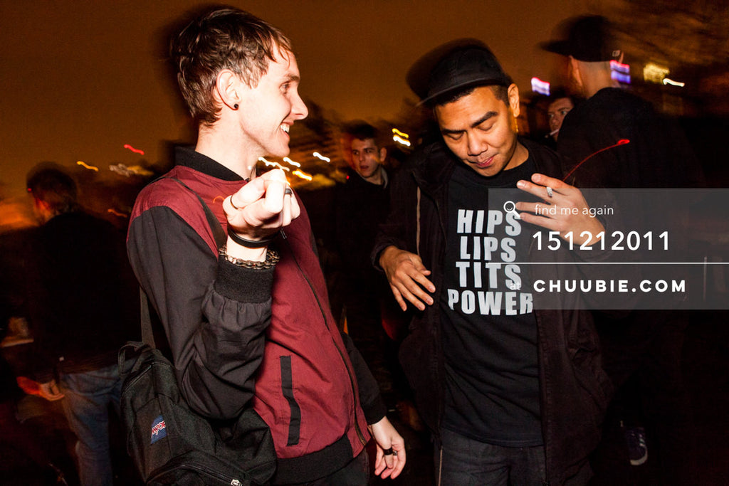 151212011 | Alex & Mike Servito laughing on Brooklyn Rooftop. — Sublimate & Ruse Labs 2 Year Annivers... | Team Chuubie