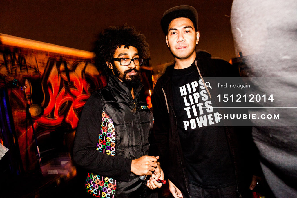 151212014 | Turtle Bugg & Mike Servito Brooklyn rooftop candid. — Sublimate & Ruse Labs 2 Year Annive... | Team Chuubie