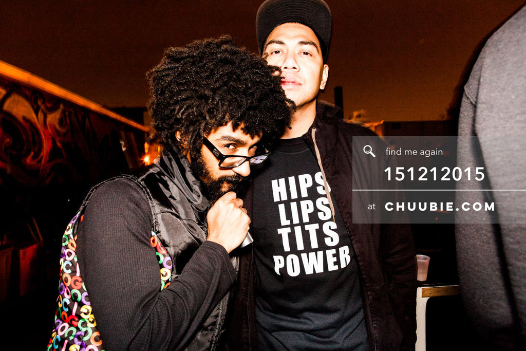 151212015 | Portrait of Turtle Bugg & Mike Servito Brooklyn rooftop candid. — Sublimate & Ruse Labs 2... | Team Chuubie