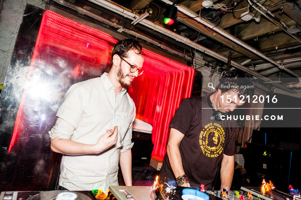 151212016 | DJs Sagotsky & Donny Burlin behind the decks. — Sublimate & Ruse Labs 2 Year Anniversary:... | Team Chuubie