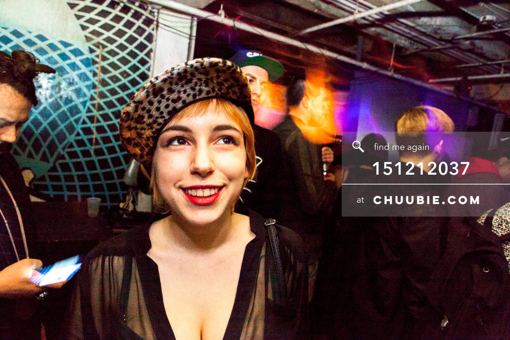 151212037 | Smiling girl with leopard print baseball cap. — Sublimate & Ruse Labs 2 Year Anniversary: Mik... | Team Chuubie