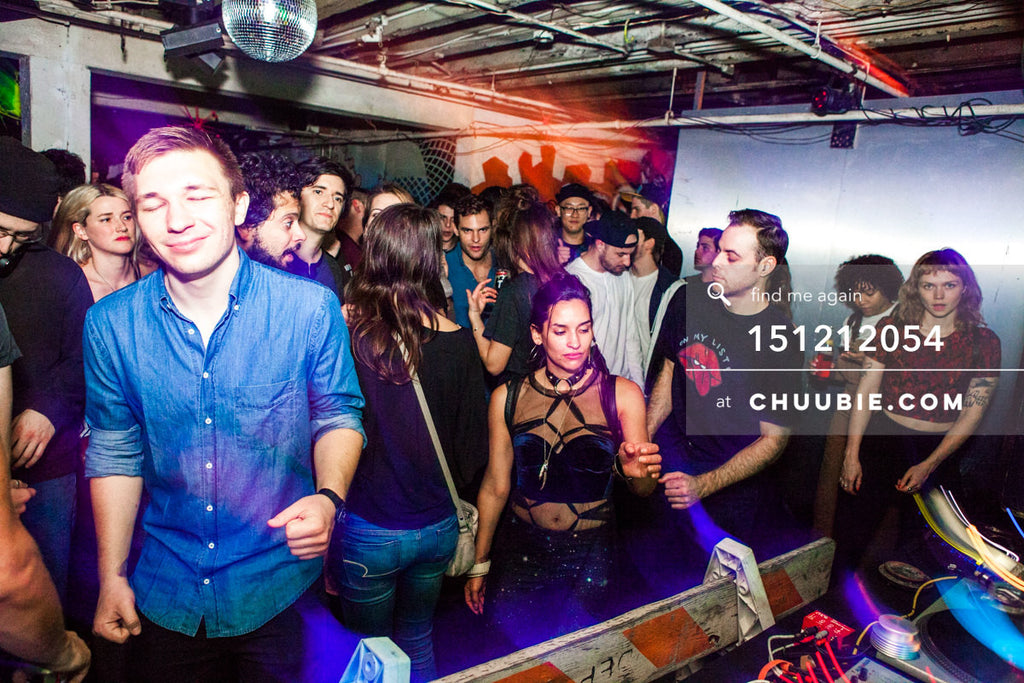 151212054 |  Crowd dancing to Servito beats; Jacqui Rabkin. — Sublimate & Ruse Labs 2 Year Anniversary: M... | Team Chuubie