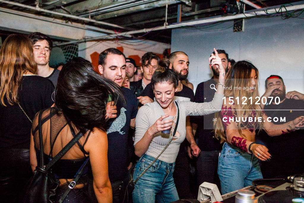 151212070 |  Ladies in crowd dancing to Servito at Brooklyn Warehouse. — Sublimate & Ruse Labs 2 Year Ann... | Team Chuubie