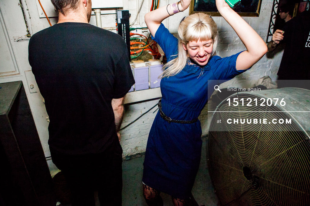 151212076 |  Kat Millerick striking a dance pose during Servito set at Brooklyn Warehouse. — Sublimate & ... | Team Chuubie
