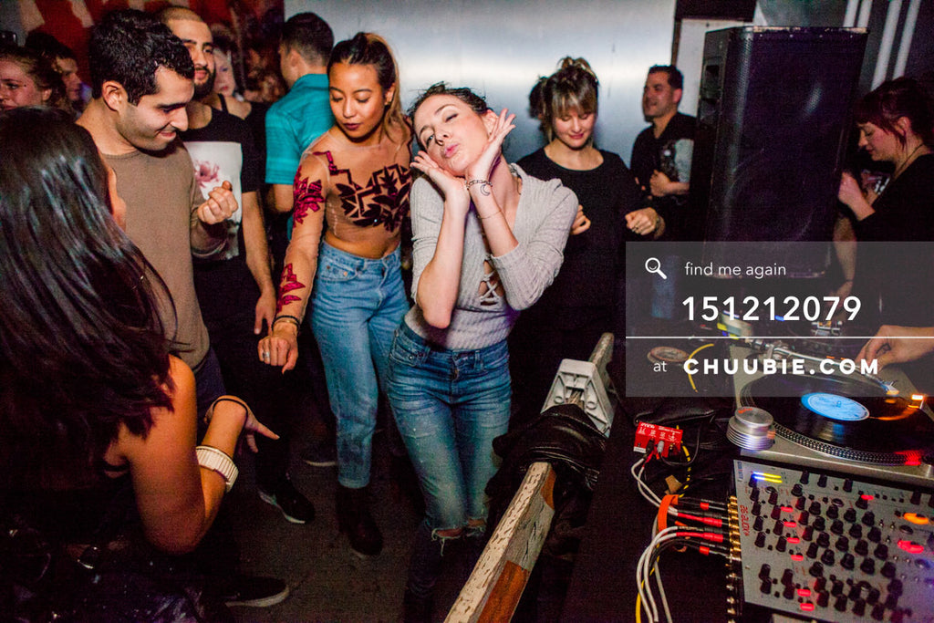 151212079 |  Ladies dancing blow kisses in crowd during Servito set. — Sublimate & Ruse Labs 2 Year Anniv... | Team Chuubie