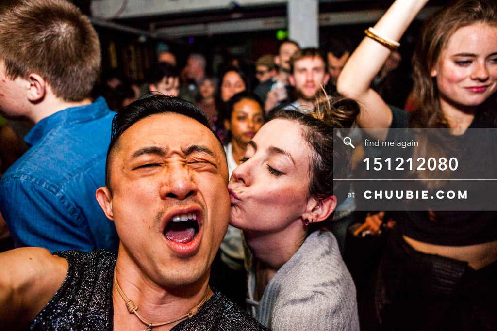 151212080 |  Chuubie gets a kiss from girl during Servito set. — Sublimate & Ruse Labs 2 Year Anniversary... | Team Chuubie