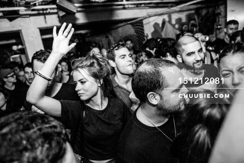 151212081 |  B&W crowd dancing shot during Servito set at Brooklyn warehouse. — Sublimate & Ruse Labs... | Team Chuubie