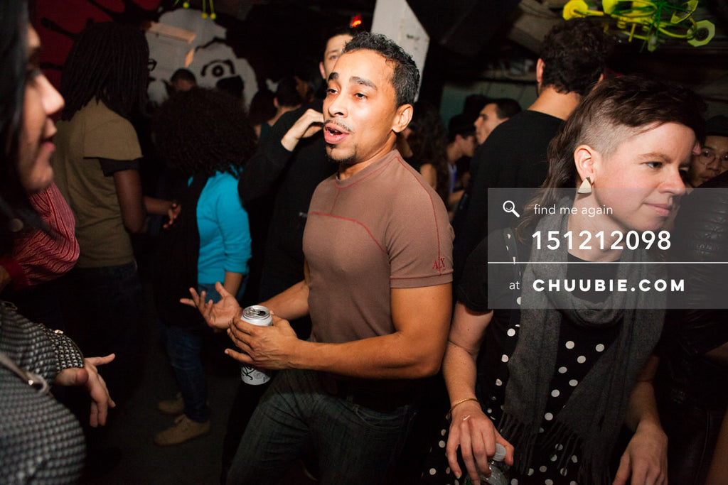 151212098 |  Portrait of guy dancing in crowd during Sevron's set. — Sublimate & Ruse Labs 2 Year Anniver... | Team Chuubie