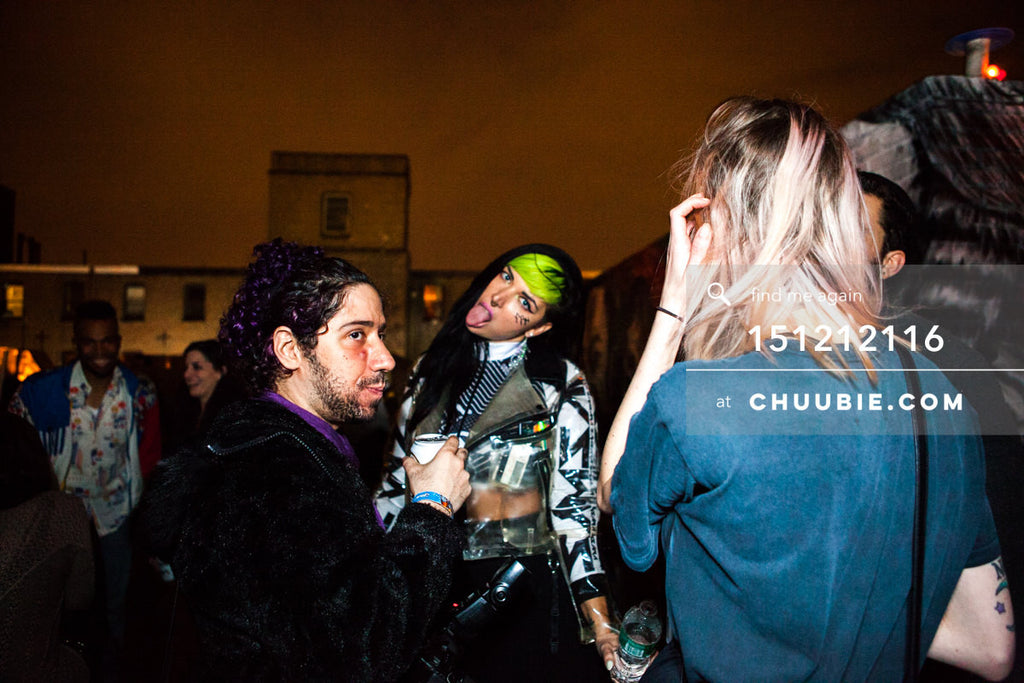 151212116 |  Rave electress on Brooklyn rooftop. — Sublimate & Ruse Labs 2 Year Anniversary: Mike Servito... | Team Chuubie