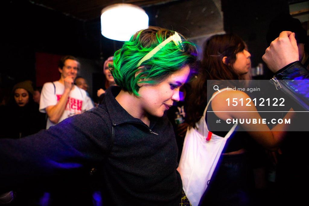 151212122 |  Kelsie with the neon glowing green hair at Brooklyn warehouse party. — Sublimate & Ruse Labs... | Team Chuubie