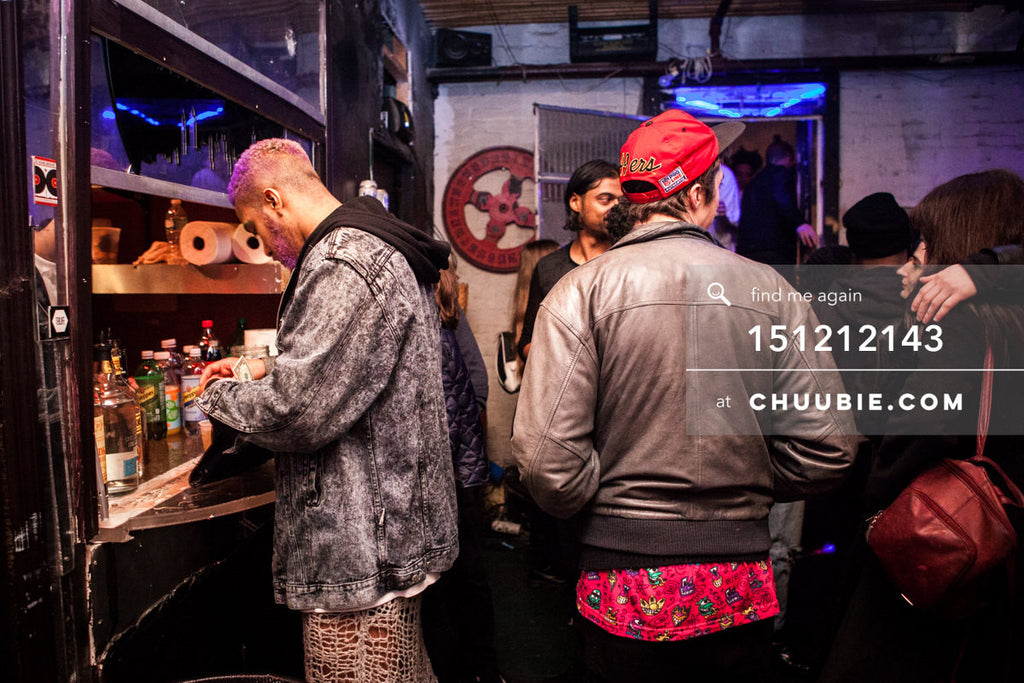 151212143 |  Scenes from the bar at Brooklyn warehouse party. — Sublimate & Ruse Labs 2 Year Anniversary:... | Team Chuubie