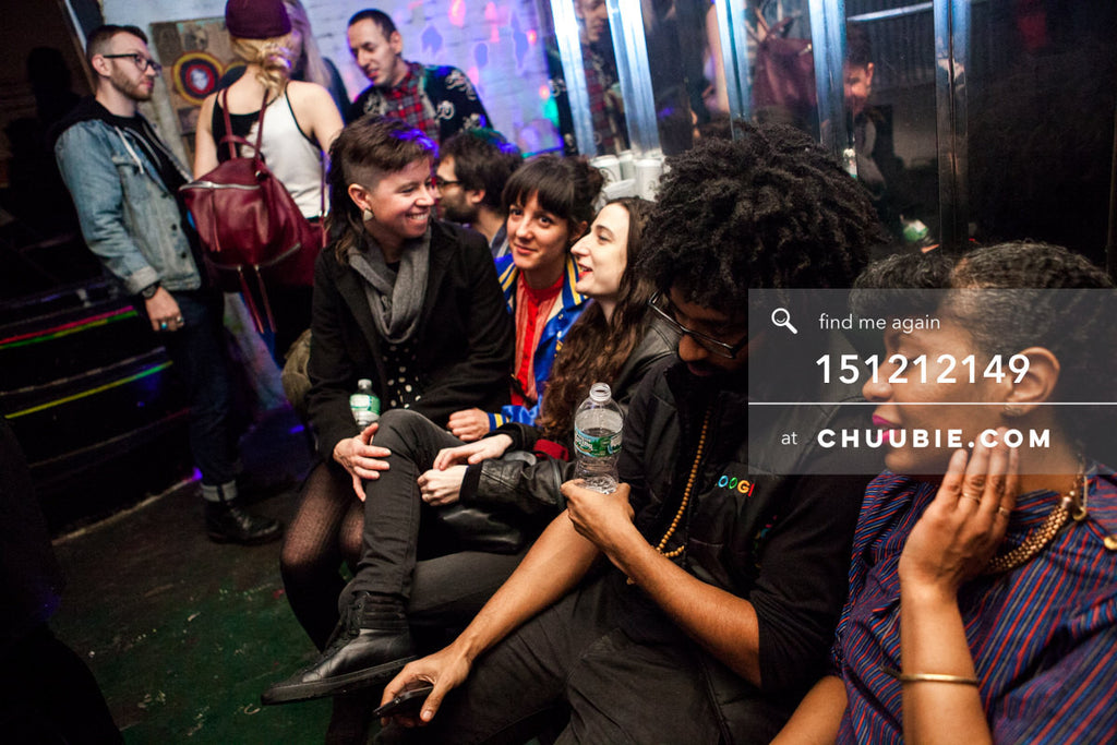 151212149 |  (R to L) Kat Smith (Analog Soul), Turtle Bugg, Susie & acid house music babes. — Sublimate &... | Team Chuubie