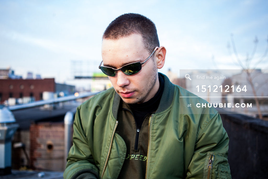 151212164 |  Close-up portrait of guy in green bomber jacket on Brooklyn rooftop. — Sublimate & Ruse Labs... | Team Chuubie