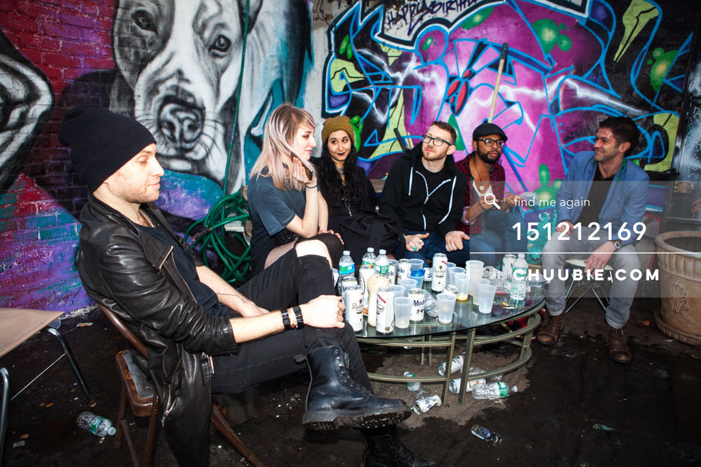 151212169 |  Morning group conversations at Brooklyn graffiti wall with DJ Marcus. — Sublimate & Ruse Lab... | Team Chuubie