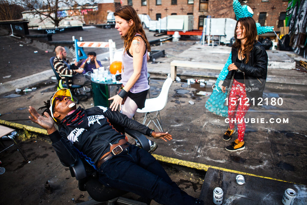 151212180 |  Running girl and the horizontal man in this Brooklyn rooftop action moment. — Sublimate & Ru... | Team Chuubie