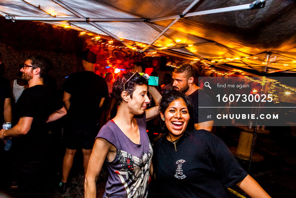 160730025 | Woman & Stephanie sharing a laugh on the rooftop bar. — Sublimate & Ruse Labs present: Mo... | Team Chuubie