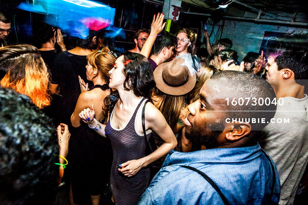 160730040 | Ladies in crowd at Brooklyn warehouse rave. — Sublimate & Ruse Labs present: Mood ii Swing. F... | Team Chuubie