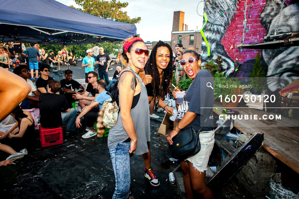 160730120 | Christina Moondust, Sandra Michelle Morrison, and Kat Smith (Analog Soul) all smiles on Brooklyn ... | Team Chuubie