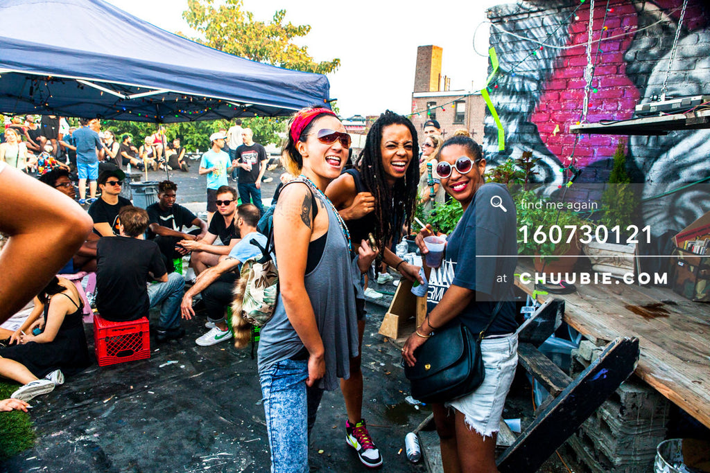 160730121 | Christina Moondust, Sandra Michelle Morrison, and Kat Smith (Analog Soul) all smiles on Brooklyn ... | Team Chuubie