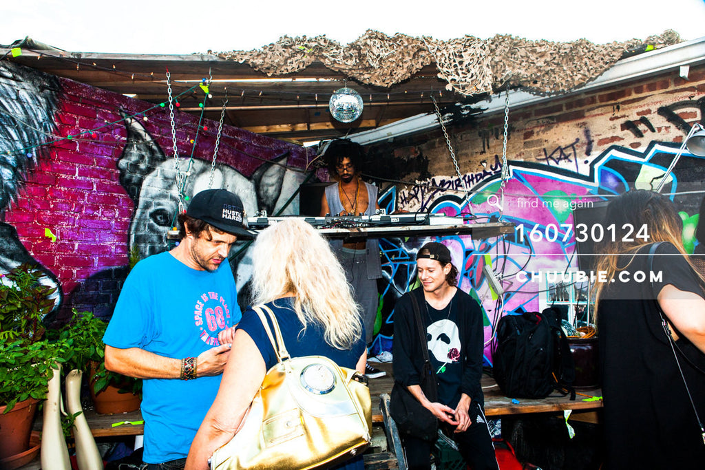 160730124 | Turtle Bugg DJs Brooklyn rooftop set with graffiti walls. — Sublimate & Ruse Labs present: Mo... | Team Chuubie