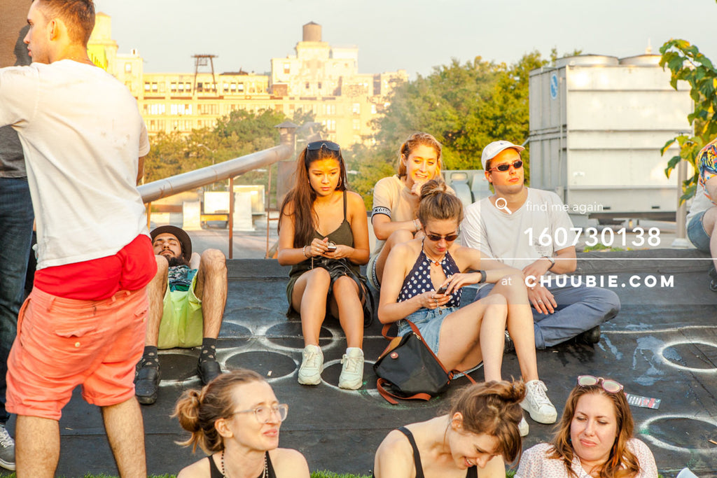 160730138 | Crowd sits on Brooklyn summer rooftop dance party. — Sublimate & Ruse Labs present: Mood ii S... | Team Chuubie