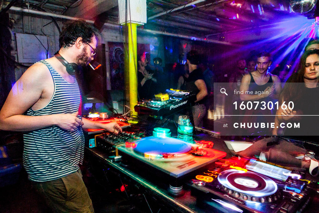 160730160 | Sagotsky behind the DJ decks, closing set. — Sublimate & Ruse Labs present: Mood ii Swing. Fr... | Team Chuubie