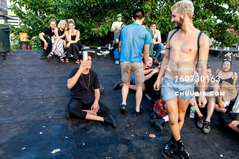 160730163 | Evan Tomas & Lindon hang out with friends on Brooklyn rooftop. — Sublimate & Ruse Labs pr... | Team Chuubie