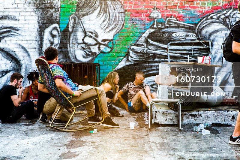 160730173 | Scenic Brooklyn rooftop colorful graffiti wall. — Sublimate & Ruse Labs present: Mood ii Swin... | Team Chuubie