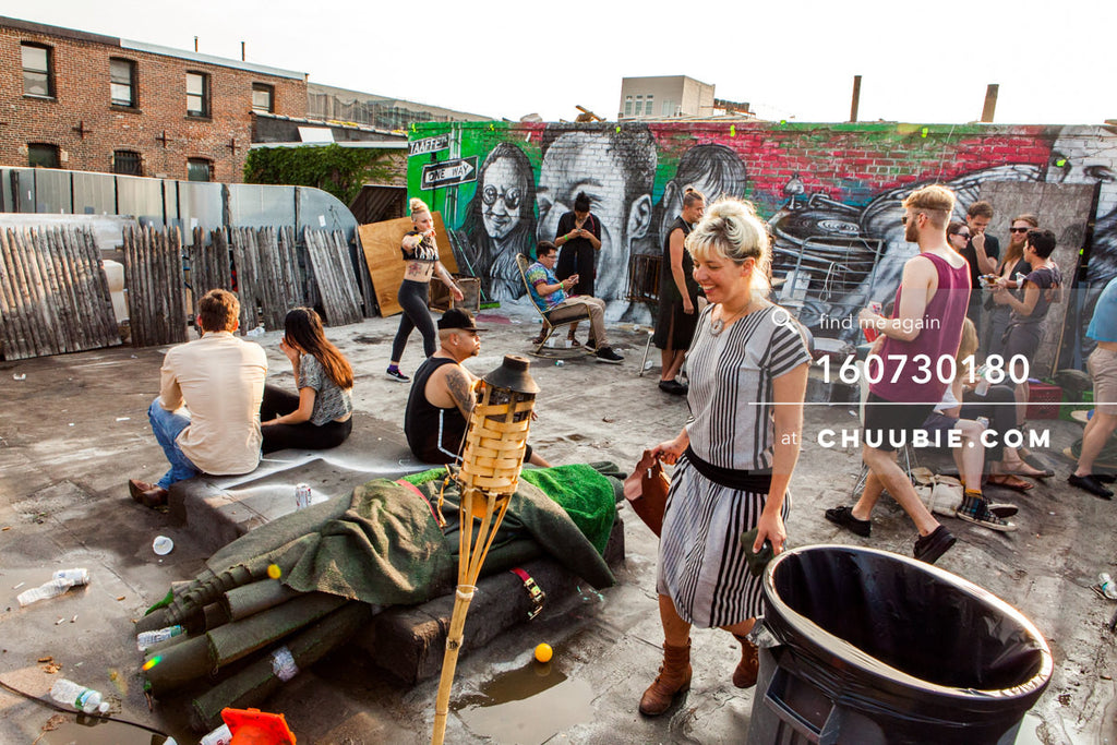 160730180 | Brooklyn summer rooftop moments with Sublimate family - Eric sitting; Mez, Erick handing out wate... | Team Chuubie