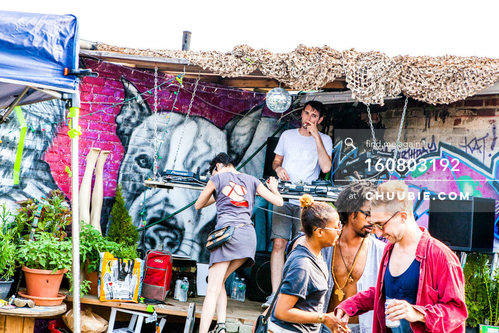 160730192 | Faso DJing on Brooklyn rooftop with Kat Smith & Turtle Bugg. Editor's Note: The high-resoluti... | Team Chuubie