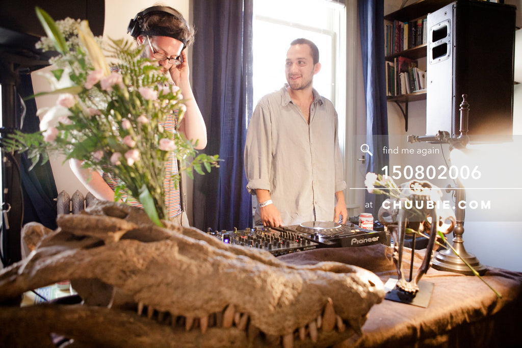 150802006 | Sagotsky & Manuel Napoleon DJing beautiful historic LES house. —Team Fun BBQ hosted by Sublim... | Team Chuubie