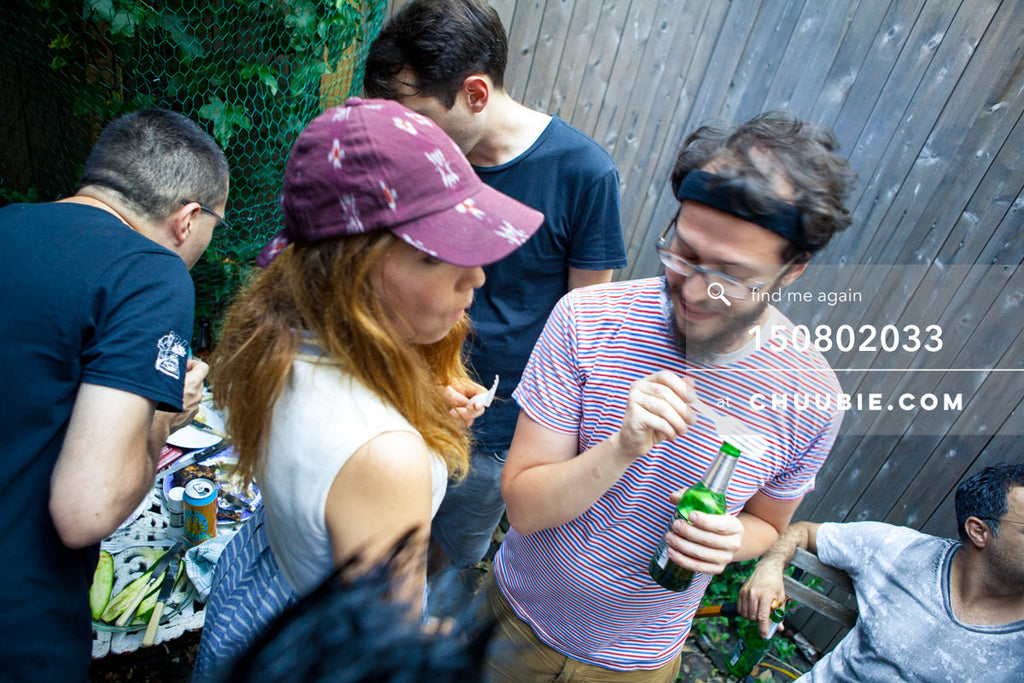 150802033 | Sagotsky at summer BBQ in historic LES house. —Team Fun BBQ hosted by Sublimate & Ruse Labs. ... | Team Chuubie