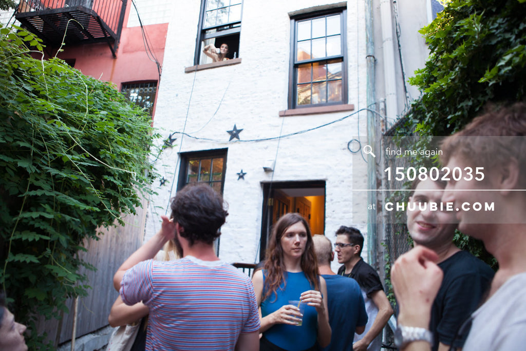 150802035 | Girl in the upstairs window at historic LES house. —Team Fun BBQ hosted by Sublimate & Ruse L... | Team Chuubie